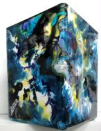 "Vase  ""Abstract blue"""