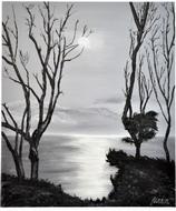 Sunset (black & white)